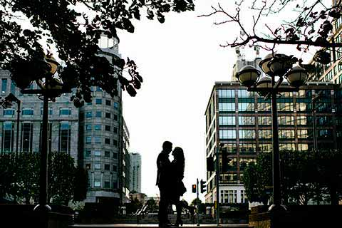 Canary Wharf  London Engagement Photography